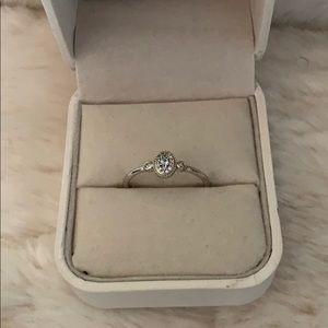 LC Lauren Conrad Blue Topaz Sterling Silver ring
